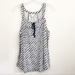 Lucky Brand Women's Blue Pattern Top - Size Large